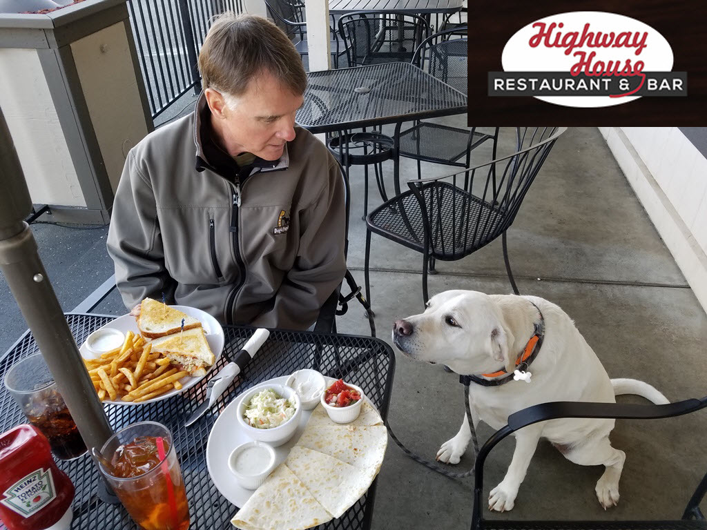 Dog-friendly patio dining in Amador County Gold Country