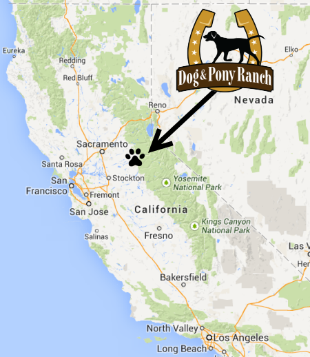 Map to vacation rental in Jackson, Northern California